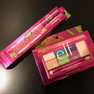 Eyeshadow palette + liquid lipstick by elf